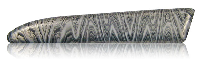 stainless steel damascus aluminum finish