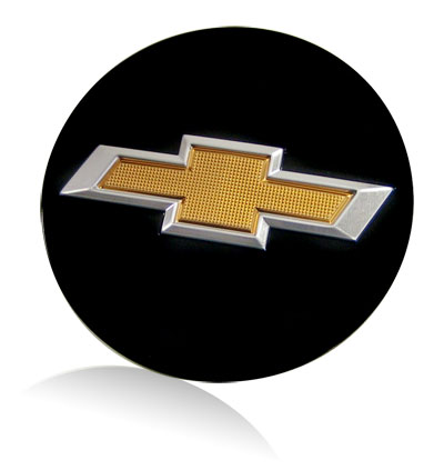 Chevy bowtie beveled logo badge