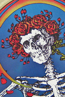 Grateful Dead aluminum decal detail