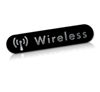Wireless nameplate | phalynx diamond cut