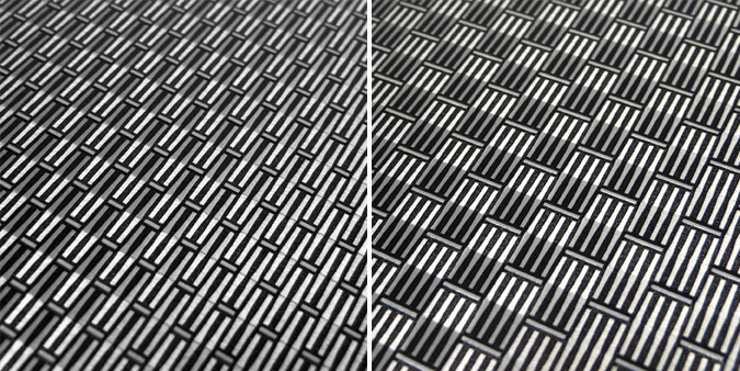 woven wire meshes on aluminum