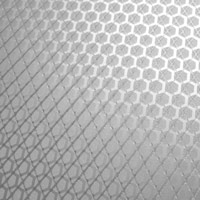 brushed hexagon grid