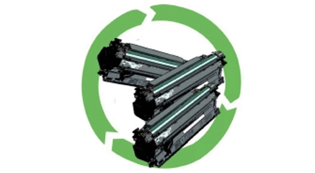 Where can you recycle your company's empty printer cartridges?