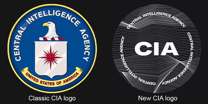 The new CIA logo: defence or techno festival?