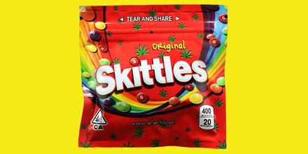 Geen goed idee: Skittles voor marihuana-producten