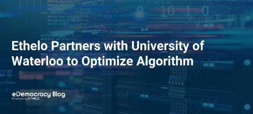Ethelo Partners with University of Waterloo to Optimize Algorithm