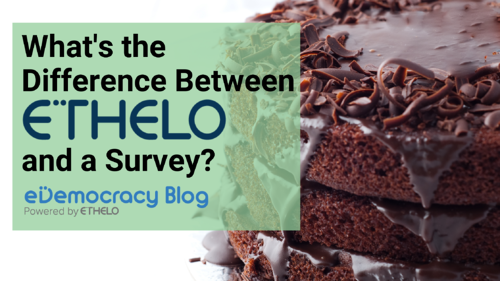 What's the difference between Ethelo and a survey?