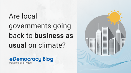 Are local governments going back to business as usual on climate?