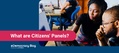 What are Citizens' Panels?