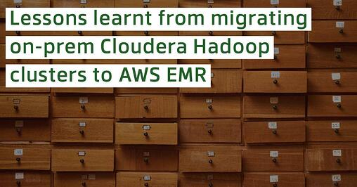4 ways to save cost when migrating from on-prem Hadoop to AWS EMR