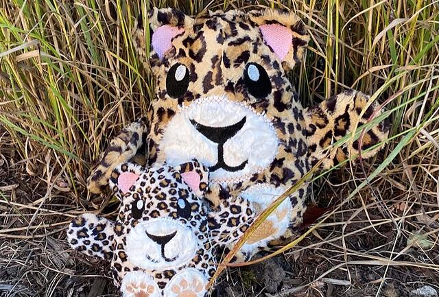 How to Sew and Embroider a Stuffed Animal Peekaboo Cheetah
