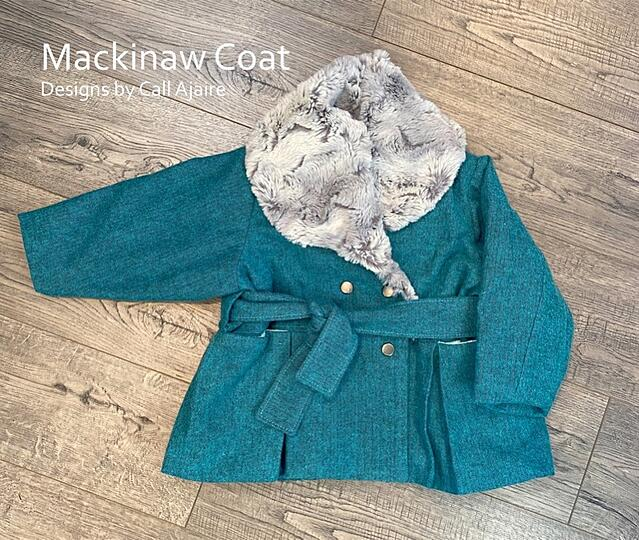 how to sew a Fully-Lined Coat with Minky Fabric