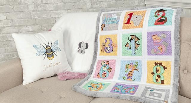 Embroidery and Applique Tips for Cuddle® Minky Plush Fabric (& Video)