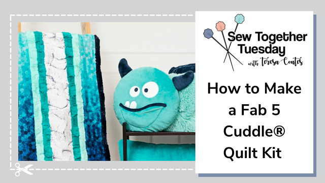 How to Sew a Cuddle® Minky Strip Quilt