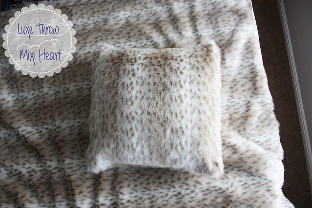 Faux Fur Pillow Cover & Throw Pattern and Tutorial