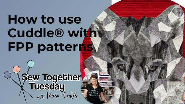 Video: How to Use Cuddle® with Foundation Paper Piecing Patterns