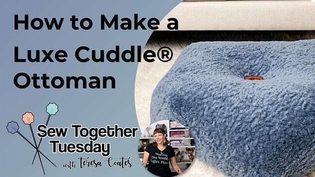 How to Make a Luxe Cuddle® Ottoman