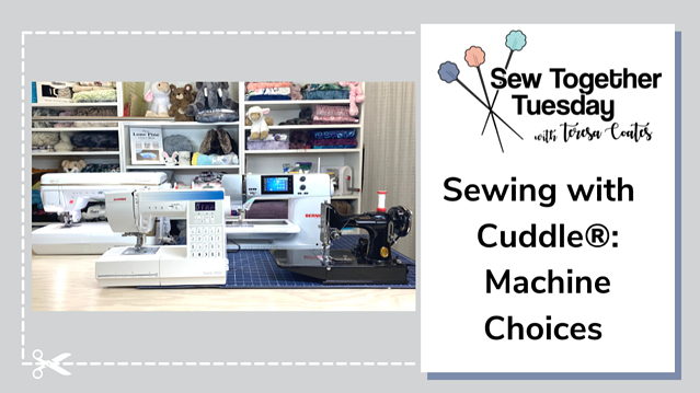 A Sewing Machine Guide to Sewing with Cuddle® Minky Fabric (Side-By-Side Video Comparison)