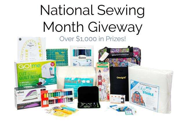 2021 Ultimate National Sewing Month Giveaway (Over $1,000 in Prizes!)
