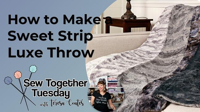 Video: How to Sew a Luxe Cuddle® Sweet Strip Throw Blanket (& Free Pattern)