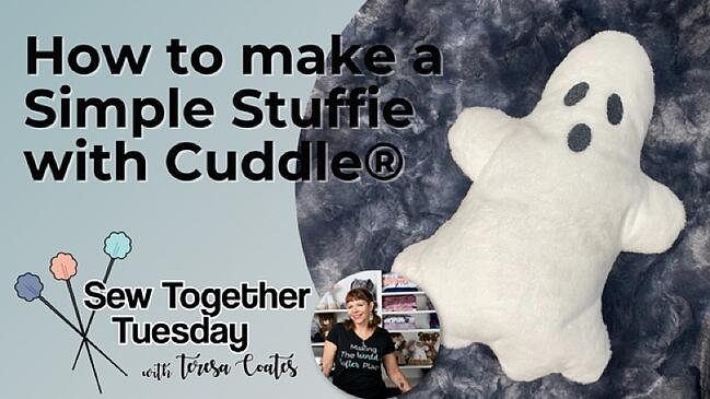 How to Make a Cuddle® Minky Fabric Ghost Stuffie