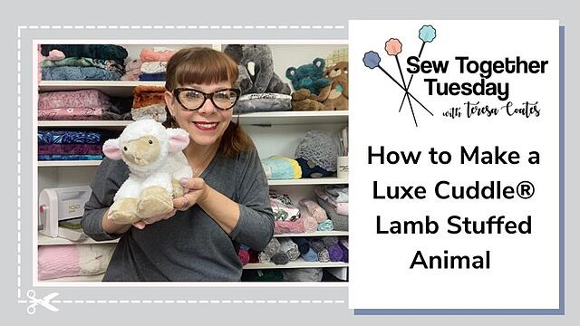 How to Sew the Cutest Lamb Stuffed Animal (Video Tutorial)