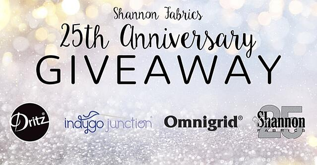 Shannon Fabrics 25th Anniversary Giveaway May