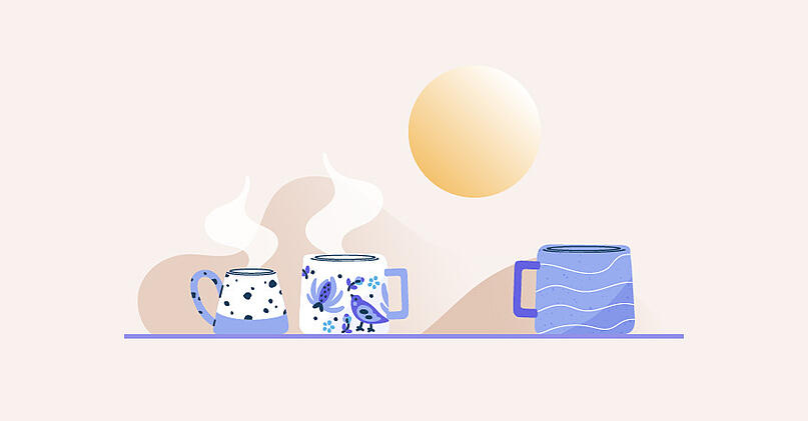 Illustration for subtle signs of burnout with change in socializing at work