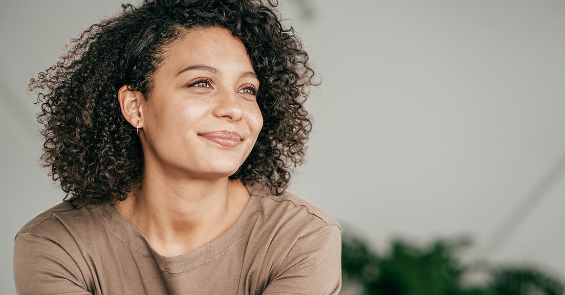 Photo of a woman smiling.