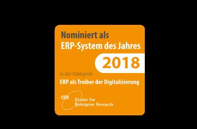 CER ERP System des Jahres 2018 (nominiert)