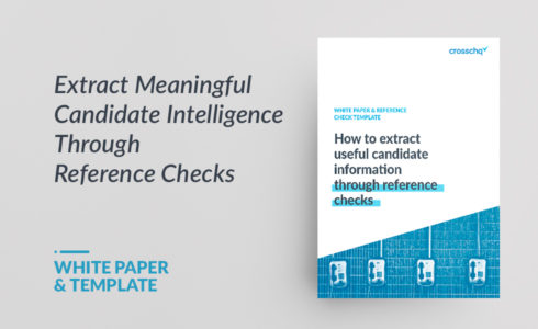 WHITE PAPER & REFERENCE CHECK TEMPLATE