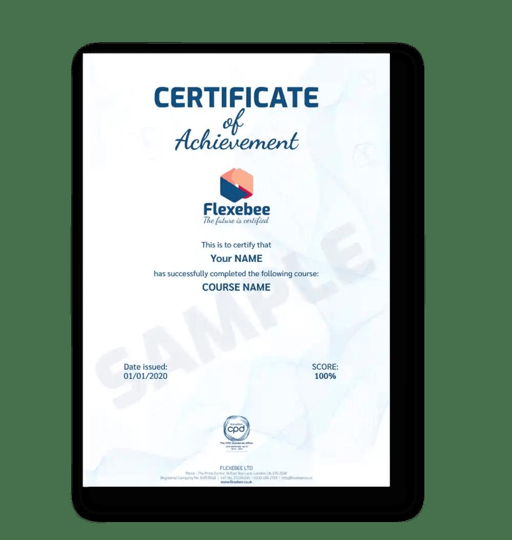FLXB Certificate Reduced