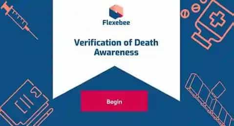 Verification of Death Awareness Training Course Screenshot