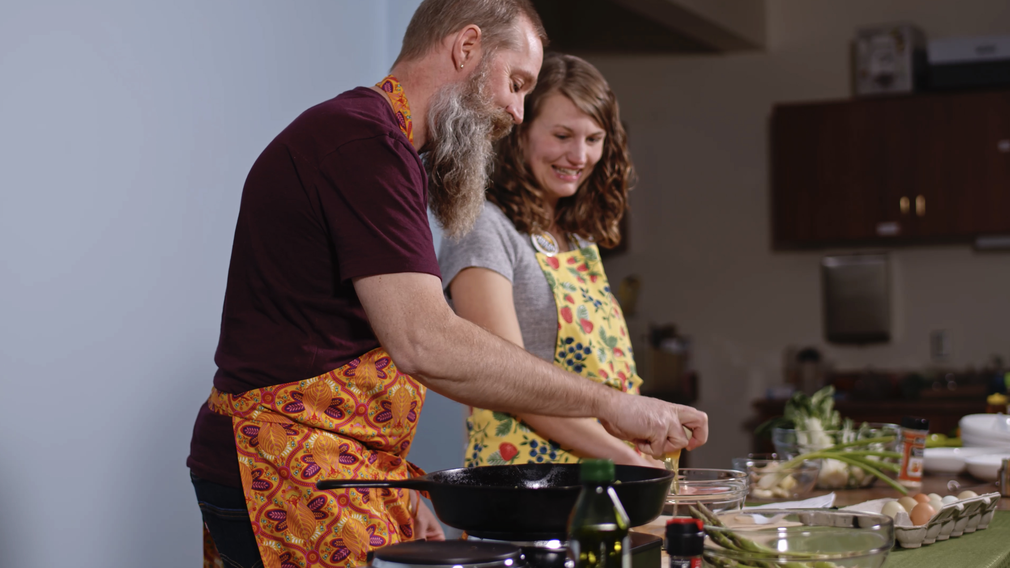 Biblio Bistro:How to Make Asparagus and Bok Choy Frittata