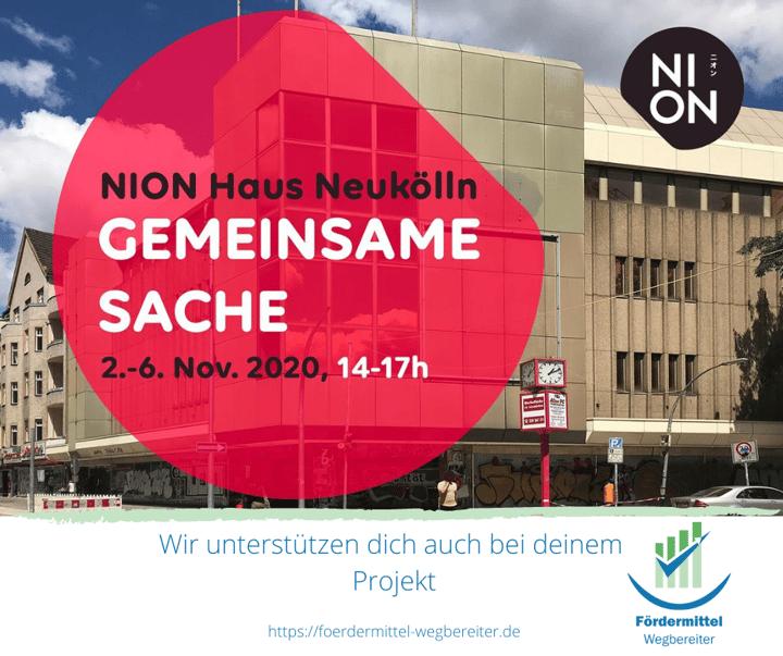Gemeinsame Sache- Einladung zur NION Haus Neukölln Aktionswoche
