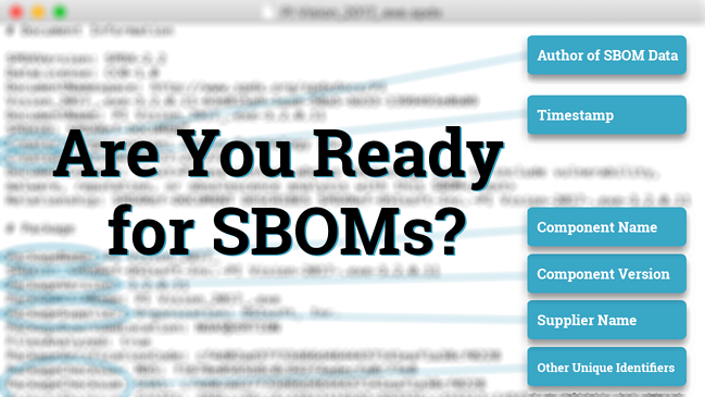 NTIA Publishes Minimum Components of an SBOM