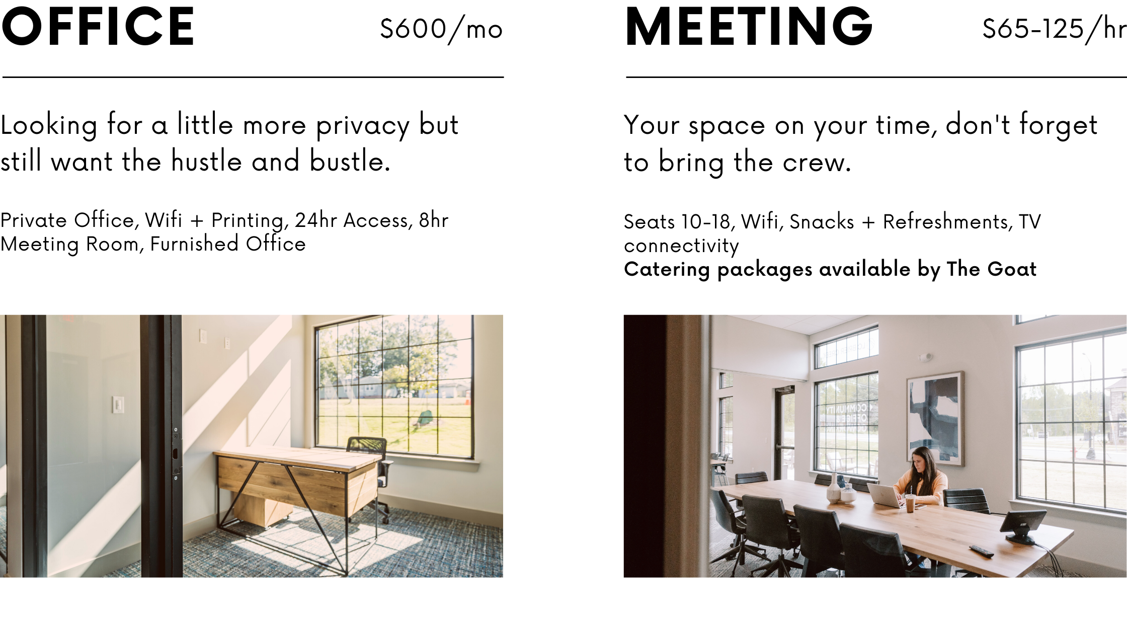 private office and conference room