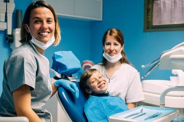 Dentist, RDH, Patient Smiling