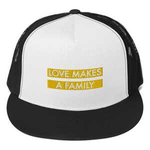love makes a family equality baseball cap