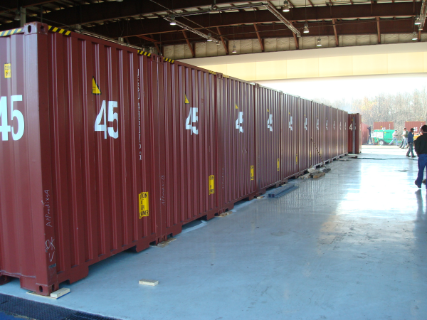 shipping containers, turnstiles, access control turnstiles, turnstiles in shipping containers