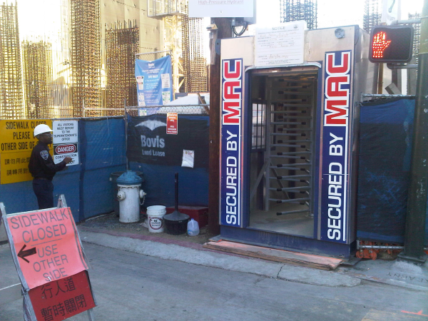 Modular Access Control (MAC) Portal, 1 turnstiles unit, MAC-1, one turnstile, turnstile rental