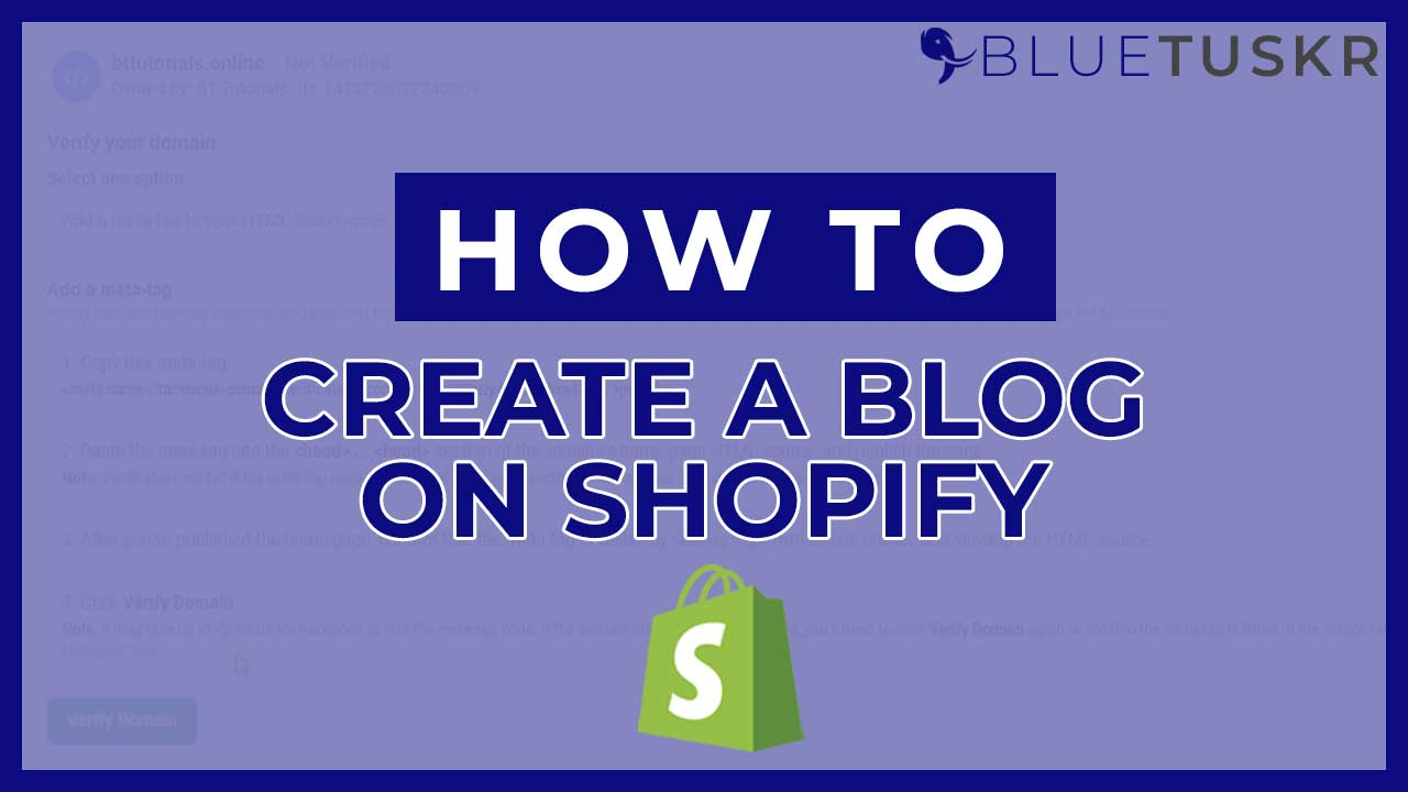 How to Create a Blog Post on Shopify