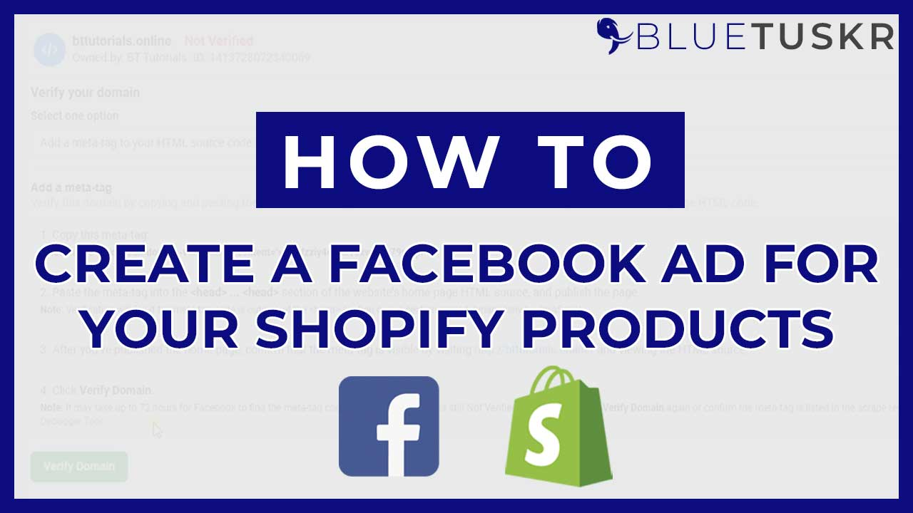 How to Create a Facebook Ad for Your Shopify Products
