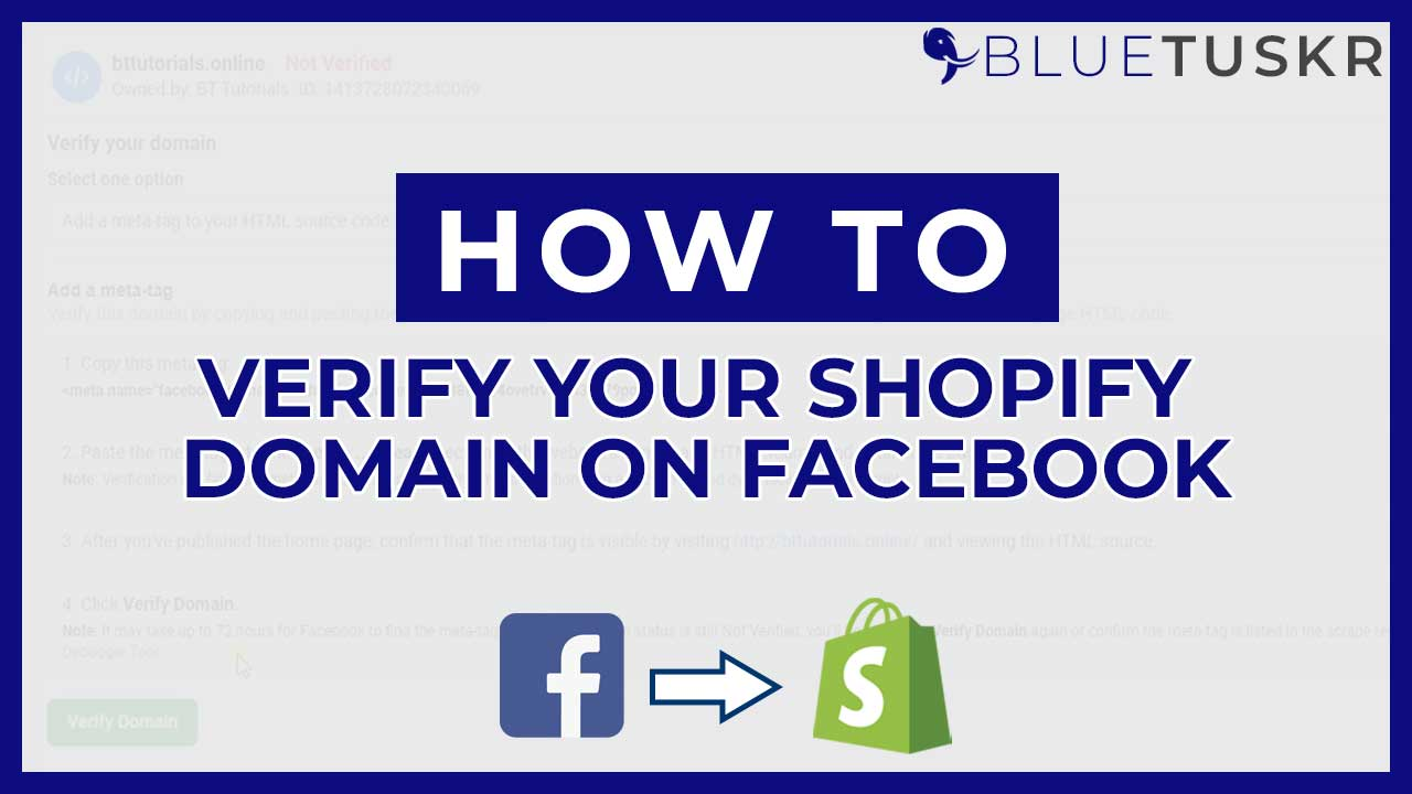 How to Verify your Shopify Domain on Facebook