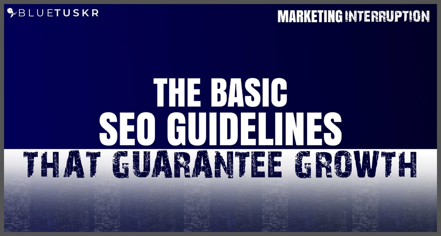The Basic SEO Guidelines that Guarantee Growth