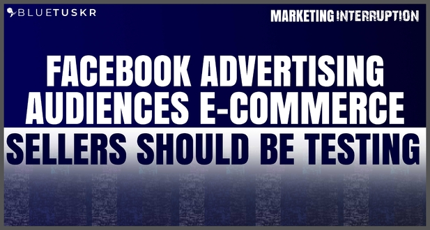 Facebook Advertising Audiences E-commerce Sellers Should be Testing