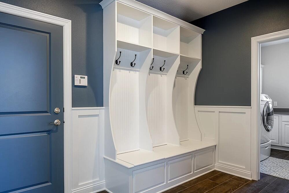 Mud room with cool storage