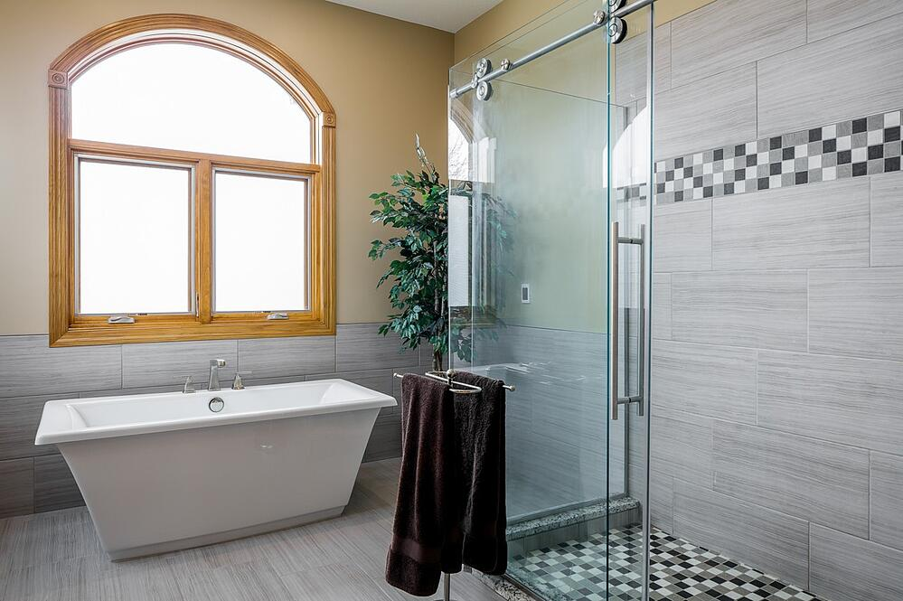 Master bathroom remodeling by Compelling Homes