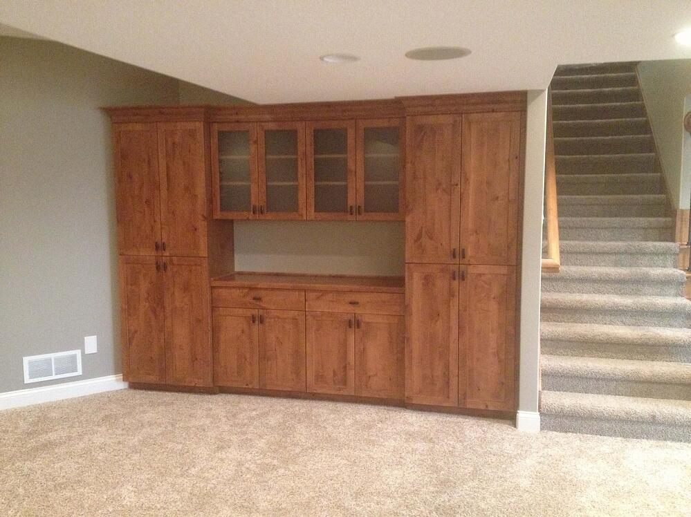 Custom cabinets for the basement remodel