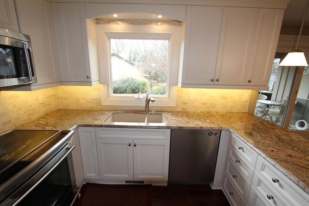 New window in remodeled kitchen